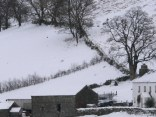 Snowfall in Keswick, England