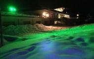 ライトアップ緑色