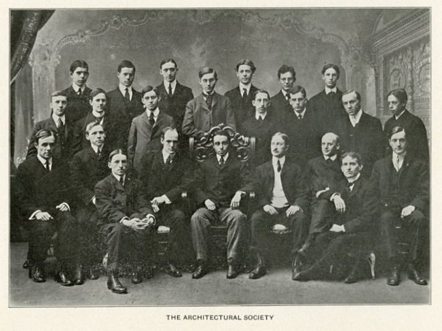 Photo of UPenn's Architectural Society (with Abele, center) courtesy of UPenn