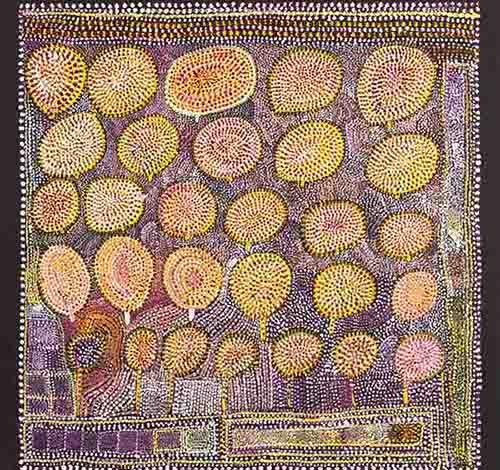 Loongkoonan, Nyikina people, Western Australia, Bush Tucker in Nyikina Country, 2006 IMAGE: .COURTESY THE ARTIST AND MOSSENSON GALLERIES, PERTH