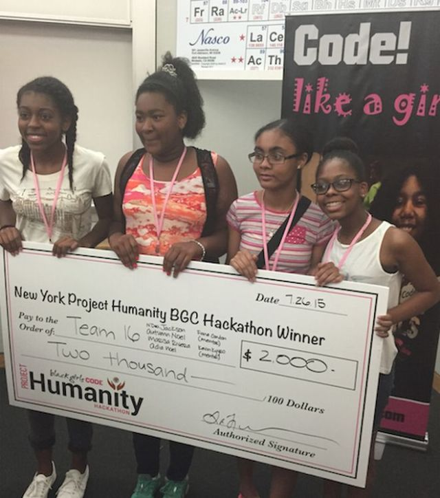 From left to right: N'Dea Jackson, Adia-Simone Rhoden, Marissa Rivera, and Autumn Noel