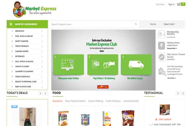 Market Express Website