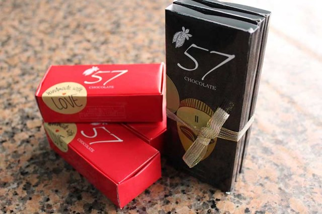 '57 Chocolate favor boxes