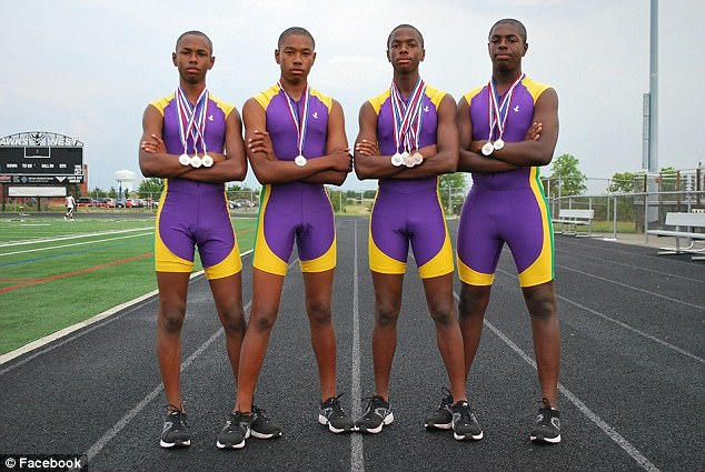The brothers - are also track and field stars at their high school