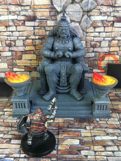 Large stone idol