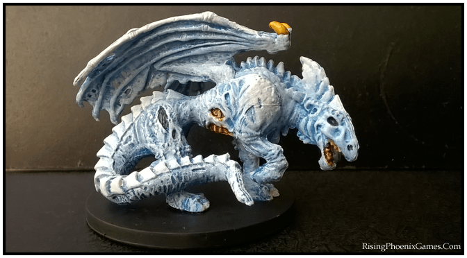 Zombie White Dragon Painted