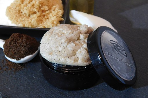 Closeup of lip scrub in the jar