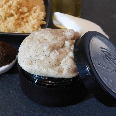 Closeup of lip scrub in the jar
