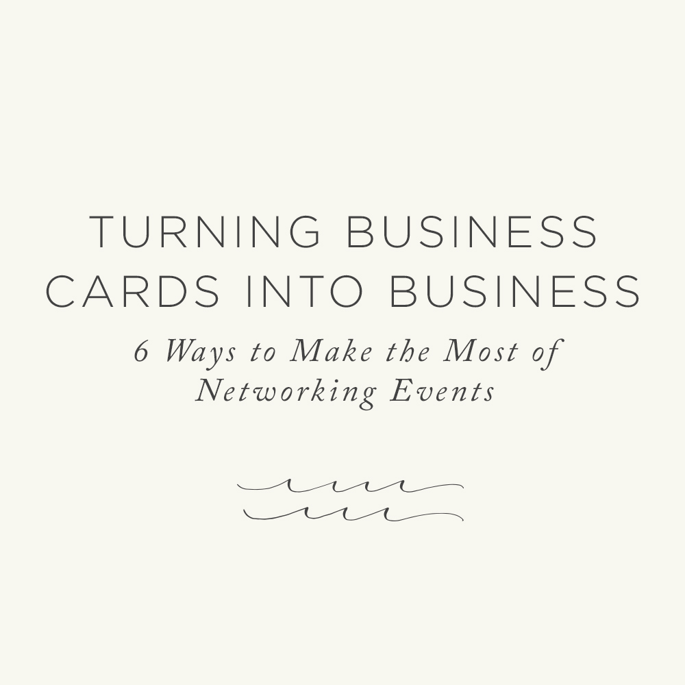 Make the Most out of Networking Events | Via The Rising Tide Society