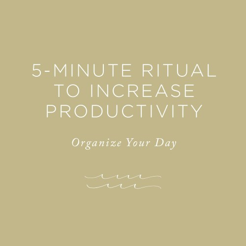 Ritual to Increase Productivity | via the Rising Tide Society