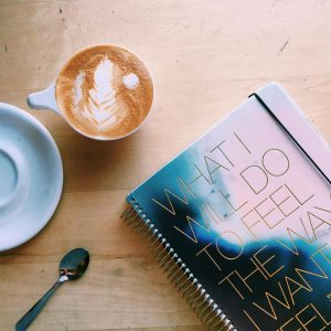 Planner and Coffee Flat Lay