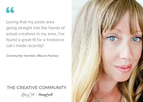 Maura Feeney, member of The Creative Community, on why she loves the new platform