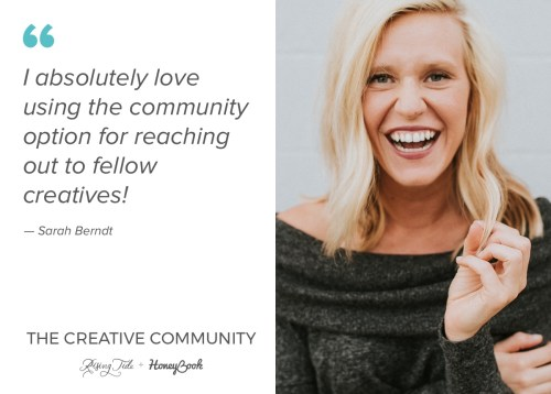 Sarah Berndt, member of The Creative Community, on loving using the community to reach fellow creatives
