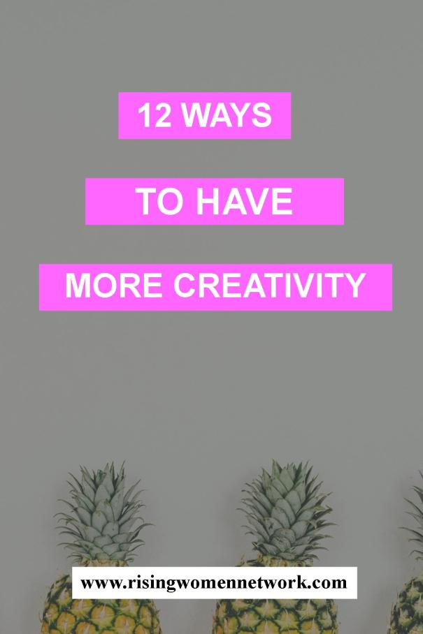 Here are 12 ways that you can get those creative juices flowing again and, hopefully, get your project or task finished. We creativity!