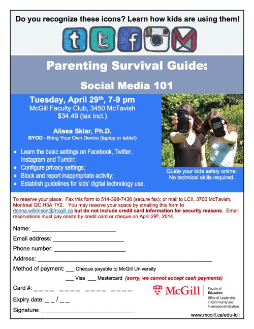 Social Media workshop for parents