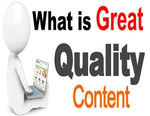 quality content for SEO