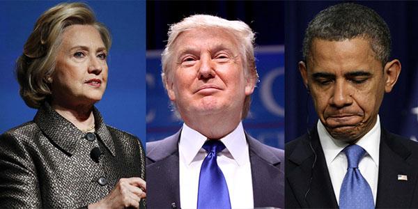 gli errori di Obama preparano la vittoria di Trump contro la Clinton
