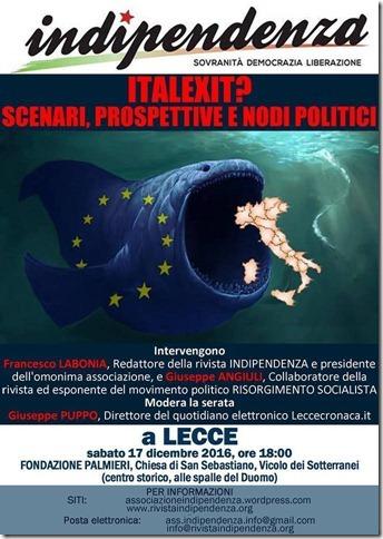 Italexit: i socialisti discutono sull'uscita dall'Euro