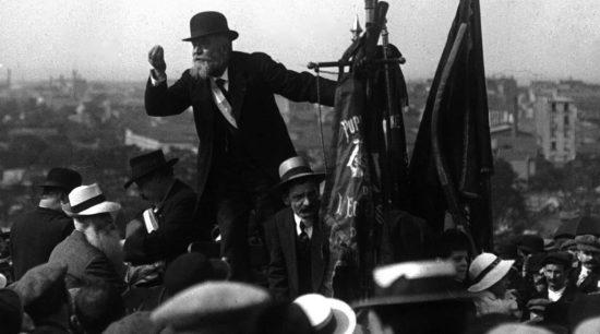 Jean Jaures, leader socialista francese contro la guerra