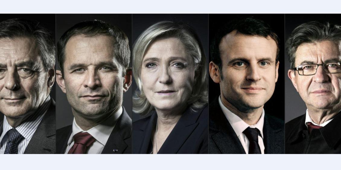 i candidati alle elezioni in Francia: i socialisti di sinistra con Melenchon