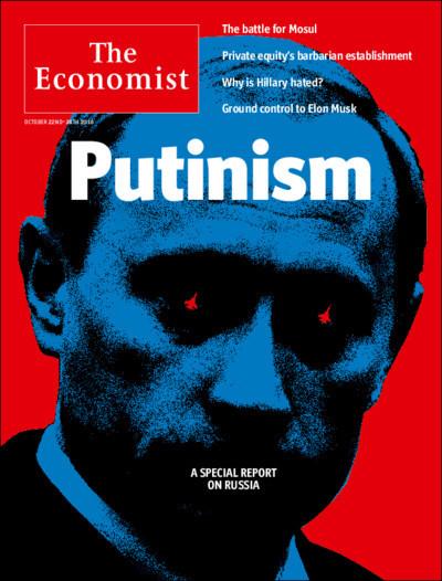Putin demonizzato dall'Economist come nuovo Hitler