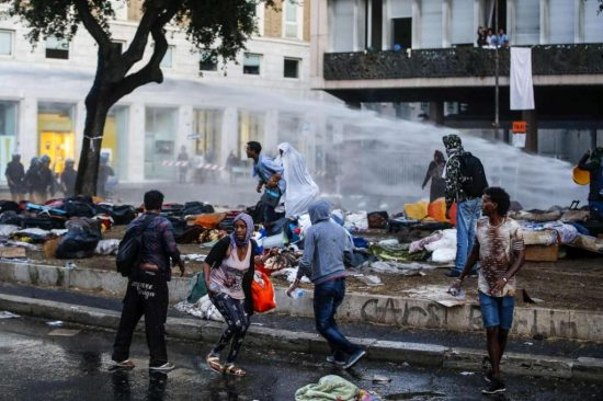 scontri piazza indipendenza roma via curtatone profughi eritrei