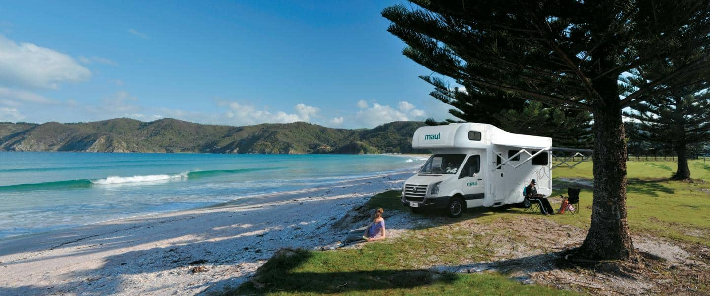 Motorhome Maui Beach New Zealand