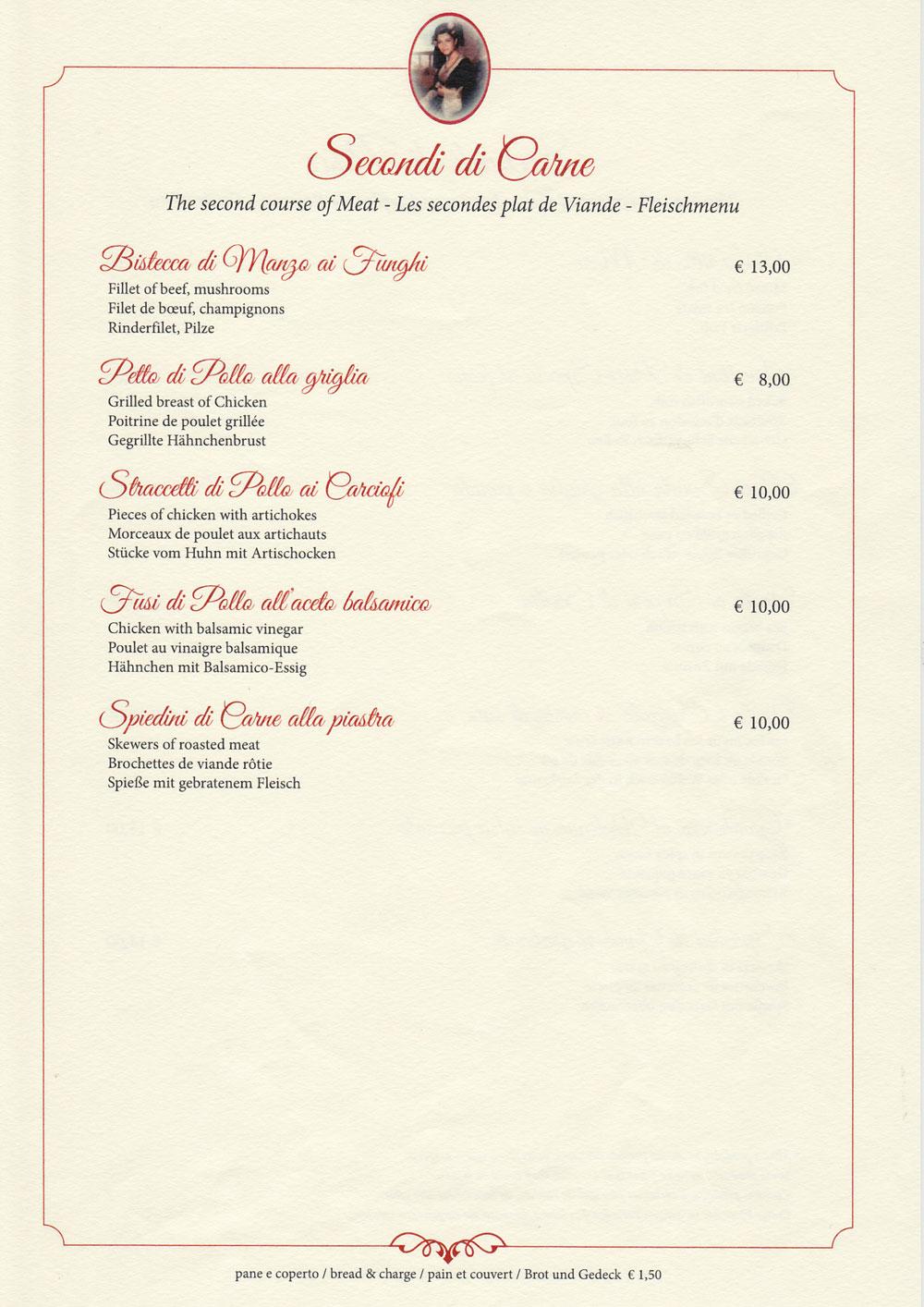secondi piatti di carne ristorante pizzeria 'Nna Prinicipi di Cefalù