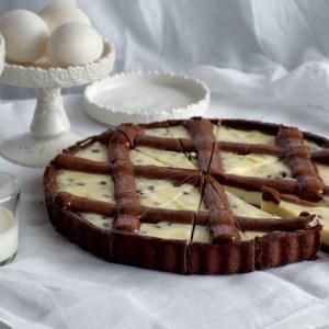 tart ricotta e gocce di cioccolato