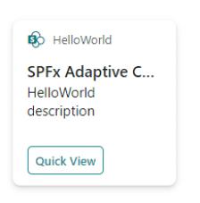 Hello World adaptive card