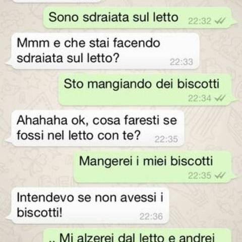whatsapp ridere amore biscotti