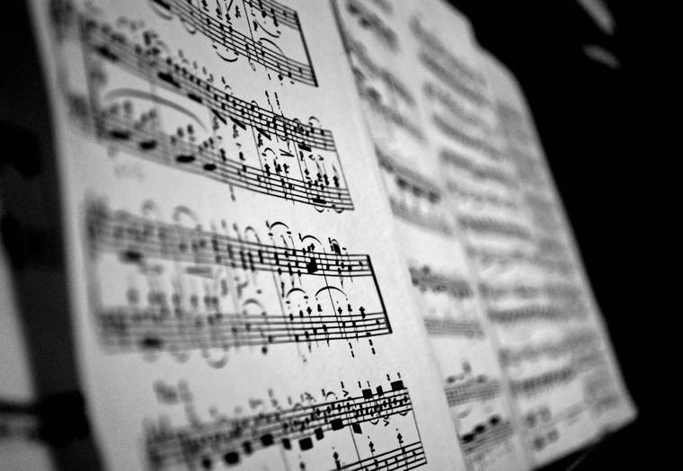 Fantasia in re minore | Immagine di uno spartito musicale