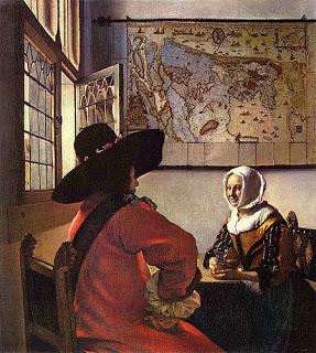 Vermeer-soldato-ragazza