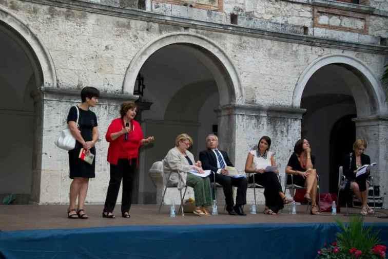Bice Antonelli, Leontina Lanciano e i relatori. Foto di Massimo Palmieri