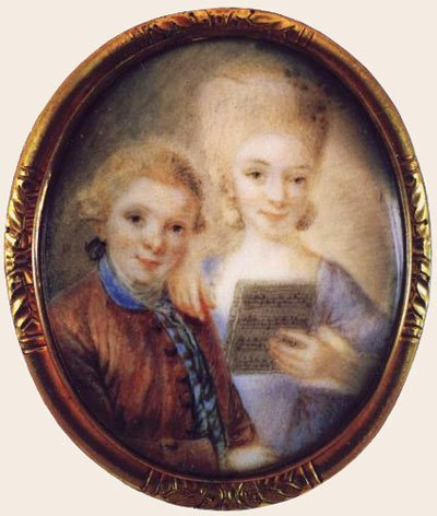 Ritratto dei piccoli Mozart