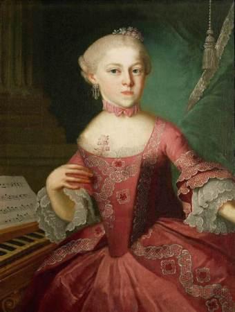 La sorella di Mozart, Nannerl, in un ritratto