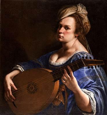 Artemisia Gentileschi, autoritratto come suonatrice di liuto