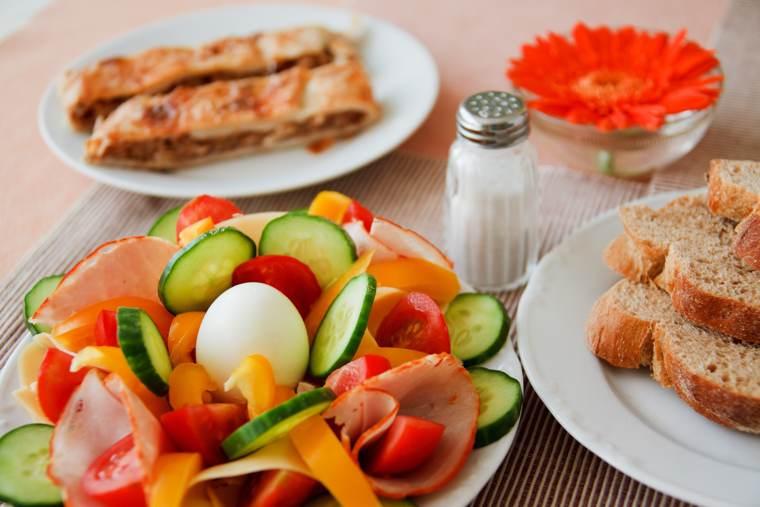 menu per la dieta di mezza giornata