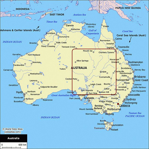 Map of Australia - Australian maps for your trip planning