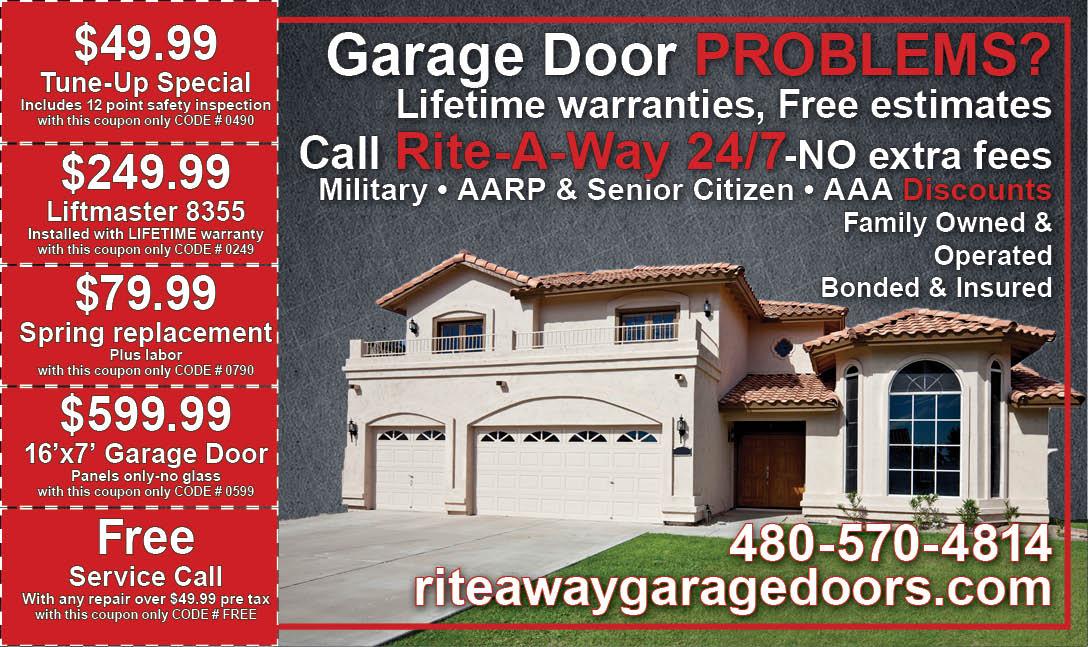 Garage door repair specials rite a way garage door service for Casa grande garage door repair