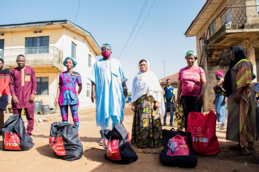 Delivering packages to families in Ososa town 6