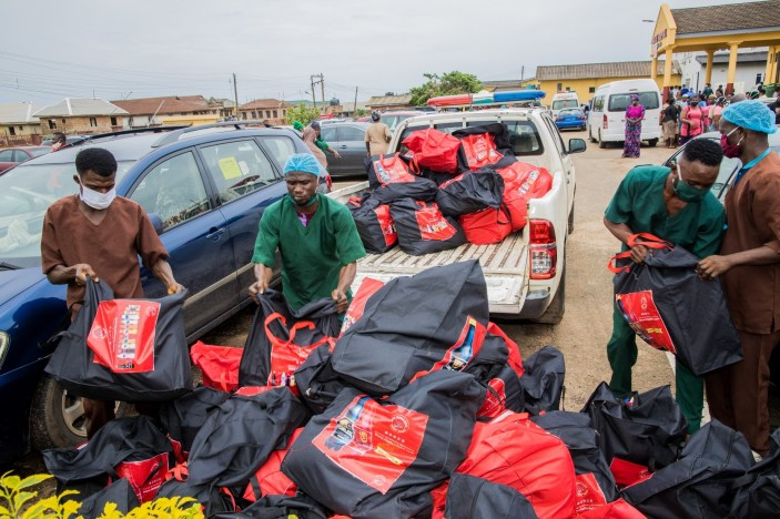 Food relief package to General Hospital, Ijebu Ode