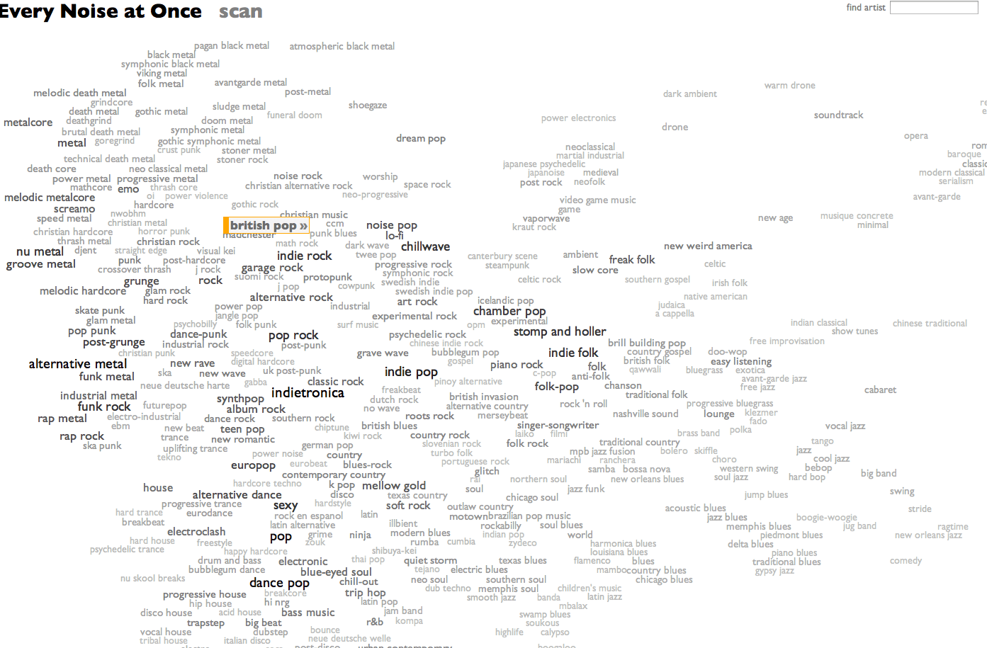 cool interactive map every genre of music in one place animus