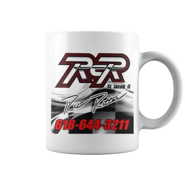 White RCR Ric Ritter Mug