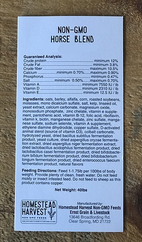 Non-GMO Horse Blend