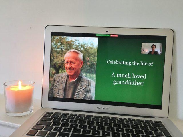 Online funeral service led by Rosalie Kuyvenhoven, London based celebrant