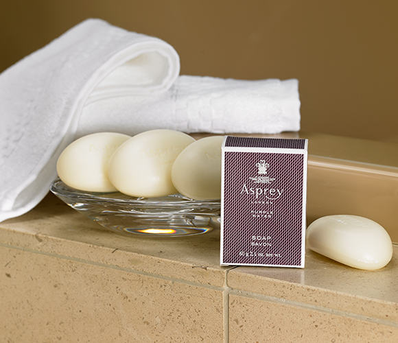 Ritz Carlton Hotel Shop Asprey Purple Water Bar Soap Set