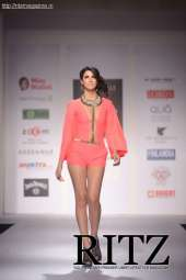 FormatFactoryA model showcasing Malini Ramani's collection at Day 2 of India Resortwear Fashion Weel
