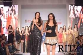 FormatFactoryA model walking with Nandita Mahtani at Day 2 of India Resortwear Fashion Week