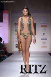 FormatFactorya model showcasing Malini Ramani's Resortwear collection on Day 2 of India Resortwear Fashion Week